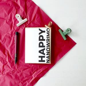 Grusskarte Happy Nanowrimo