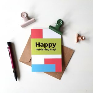 "Grußkarte ""Happy Publishing Day!"""