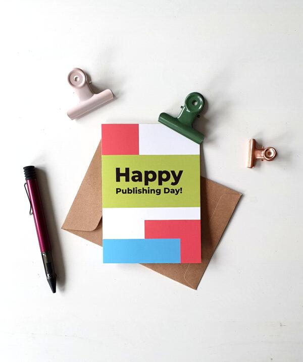 "Grußkarte ""Happy Publishing Day!"""
