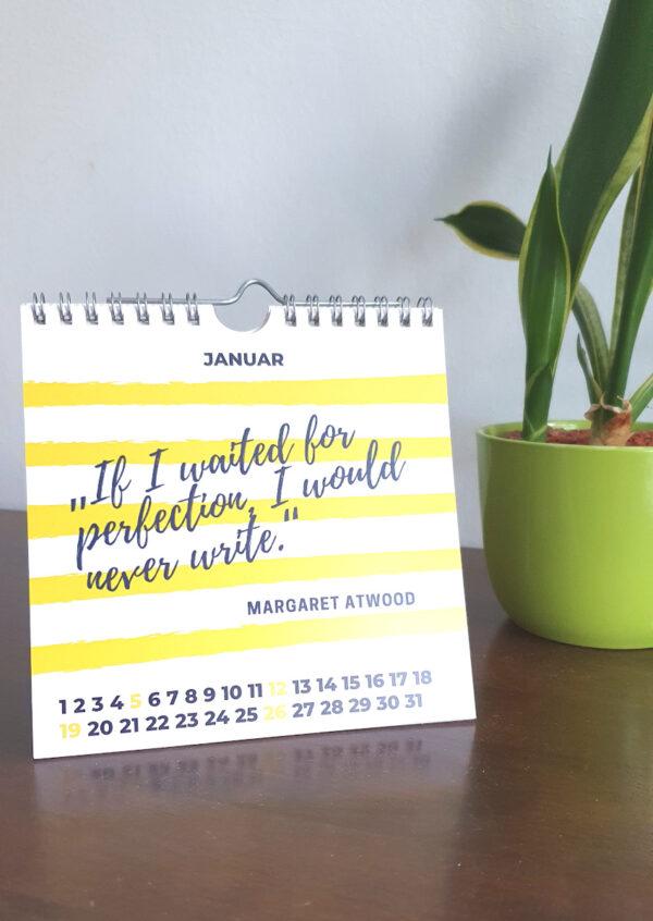 Tischkalender Writing Quotes 2020, Januar Ansicht